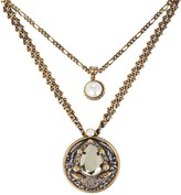 Alexander McQueen Signature Long Layered Chain Necklace
