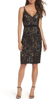 Xscape Evenings Women's V-Neck Lace Sheath Dress