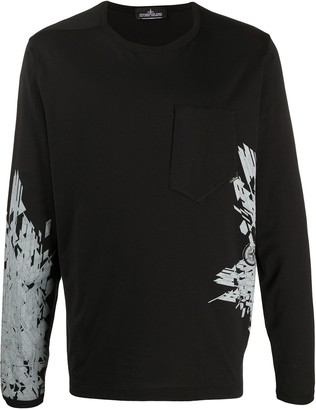 Stone Island Shadow Project Jersey Graphic Long-Sleeve Top
