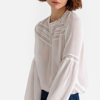La Redoute Collections Ruffled Laced Detail Blouse