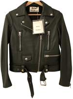 Acne Studios Green Leather Jacket for Women