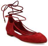 Diane von Furstenberg Paris Suede Lace-Up Ballet Flats