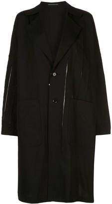 Yohji Yamamoto Single-Breasted Midi Coat