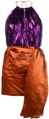 Christian Pellizzari Short Two-Tone Dress
