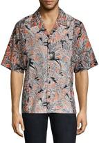 3.1 Phillip Lim Souvenir Palm Print Short-Sleeve Shirt
