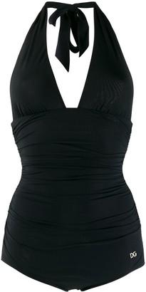 Dolce & Gabbana Halter Neck Swimsuit
