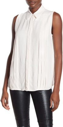 Equipment Melisande Pleated Sleeveless Shirt