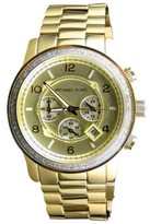 Michael Kors Micheal Kors Gold 45mm Stainless Steel with Custom Set Diamonds Watch
