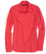 Tommy Hilfiger Final Sale- Long Sleeve Solid Oxford Shirt