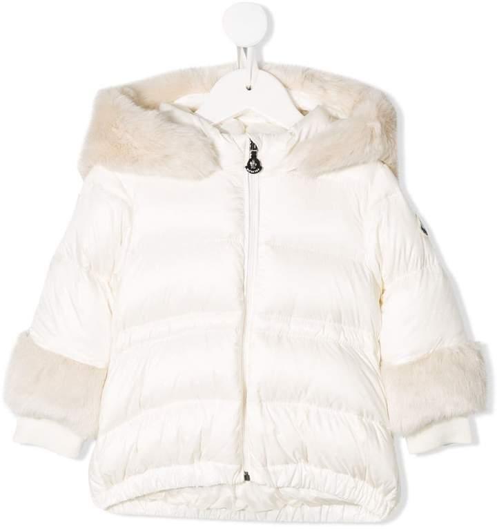 Moncler faux fur trim padded jacket