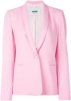 MSGM shawl lapel blazer - women - Polyester/Acetate/Viscose - 46