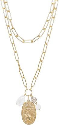 Ettika Set of 2 Freshweater Pearl Layering Necklaces