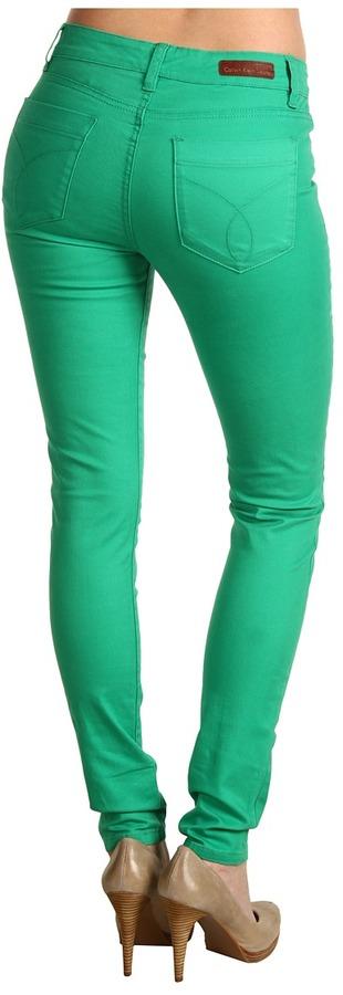 Calvin Klein Jeans Powerstretch Denim in Jade Green
