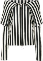 Marques Almeida Marques'almeida foldover collar striped top