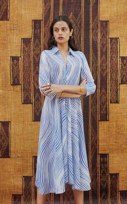Le Sirenuse Positano Lucy Long Sleeve Midi Dress