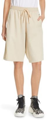 Tibi Drapey Tech Suiting Shorts