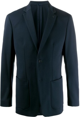Calvin Klein Single-Breasted Regular-Fit Blazer