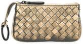 Bottega Veneta Intrecciato Leather Zip Pouch w/Key Ring