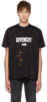 Givenchy Black Distressed Logo T-shirt
