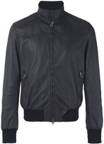 Stewart - zip up jacket - men - Cotton/Leather - M