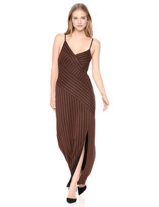 BCBGMAXAZRIA Azria Women's Asymmetric Stripe Long Dress