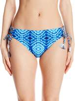 Bleu Rod Beattie Bleu | Rod Beattie Women's Mykonos Print Lace up Side Hipster Bikini Bottom