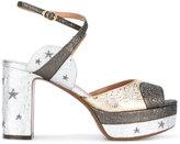 L'Autre Chose metallic star print sandals