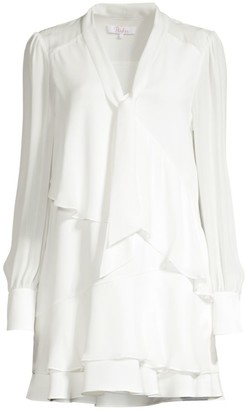 Parker Kenji Tiered Ruffle Shift Shirtdress