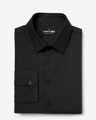 Express Slim Solid Stretch Cotton 1Mx Dress Shirt