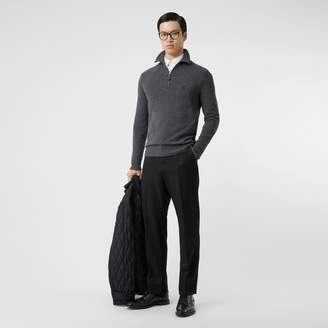 Burberry Monogram Motif Cashmere Funnel Neck Sweater