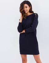 Miss Selfridge Lace-Up Sleeve Sweat Dress