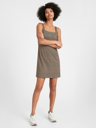 Banana Republic Petite Plaid Mini Dress