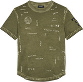 Diesel Logo printed cotton T-shirt 6-16 years