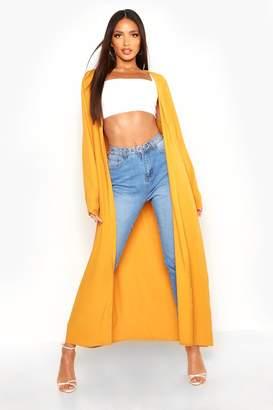 boohoo Textured Woven Maxi Kimono