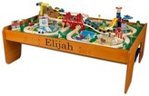The Well Appointed House Child's Personalized Ride Around Town Train Set with Table