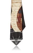 Givenchy Men's Cobra-Print Silk Necktie-BLACK