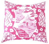 The Well Appointed House Dana Gibson Canton in Pink Square Pillow