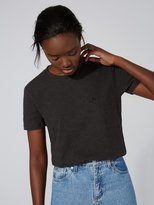 Frank + Oak The Made in Canada Signature T-Shirt in Charcoal