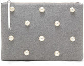 Banana Republic Large Zip Pouch with Pearls