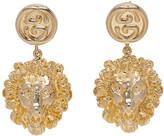 Gucci Gold Lion Head Earrings