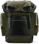 Givenchy leather trimmed Rider backpack - men - Cotton/Leather/Polyamide - One Size