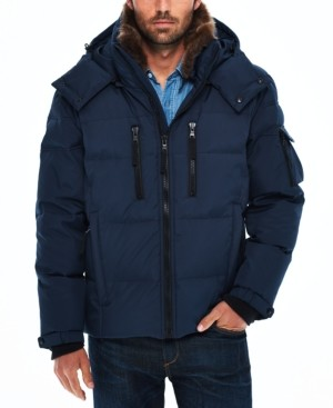 S13 Men's Sierra Parka with Detachable Faux Rabbit Collar and Removable Hood