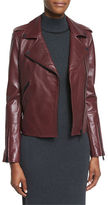 Badgley Mischka New Leather Moto Jacket w/ Black Hardware
