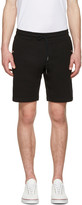 Moncler Black Side Stripes Shorts
