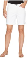 NYDJ Jessica Boyfriend Shorts in Optic White Women's Shorts