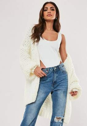 Missguided Premium Cream Chunky Knit Cardigan