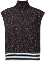 Public School speckle patterned turtle neck top