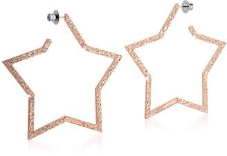 Rebecca R-ZERO Rose Gold Over Bronze Star Earrings