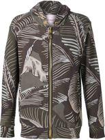 Palm Angels banana leaf print hooded sweatshirt