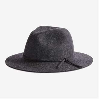 Joe Fresh Women's Felt Panama Hat, Grey Mix (Size L/XL)